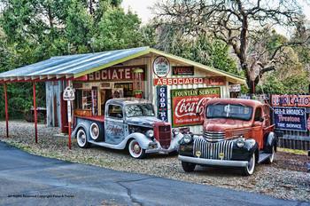 Pickup Trucks / Gas Station Metal Sign Peter Torres
