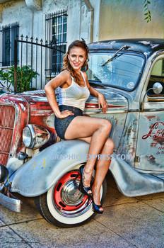 Country Girl / Pickup Truck Metal Sign Peter Torres
