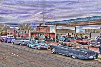 Country Barrel Diner / Antiques Metal Sign Peter Torres