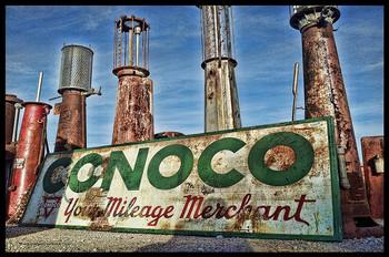 Conoco Sign / Visible Gas Pump Metal Sign
