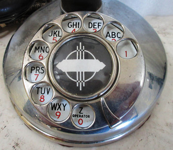 Kellogg Nickel Plated Candlestick Rotary Dial Telephone Circa 1900's