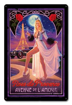 Rose de Provence  By Greg Hildebrandt Metal Sign