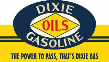 Dixie Oils Gasoline Plasma Cut Metal Sign