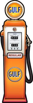 Gulf Gas Pump by Michael Fishel Plasma Cut Sign