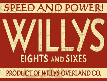 Willys Speed and PowerMetal Sign