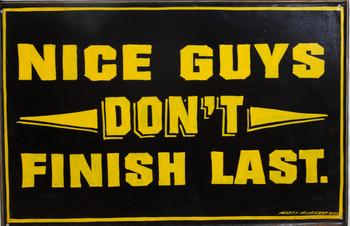 """Nice Guys Original Metal Sign by Marty Mummert """"Friends"""""""