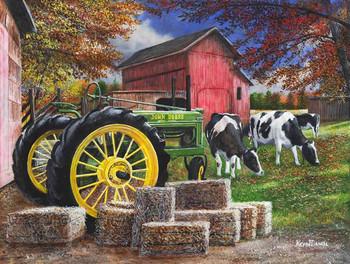 Cows Prefer John Deere  by Kevin Daniel
