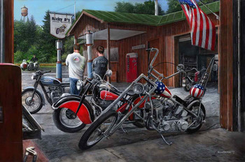 Ricky D's Motorcycle Haven by Kevin Daniel