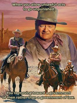 Unlawful Acts John Wayne Quote Metal Sign