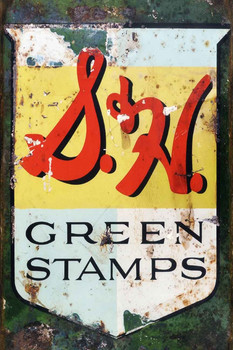 S.H. Green Stamps Distressed Metal Sign