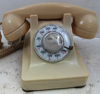 Western Electric Ivory Model 302 Telephone Fully Restored Circa 1930's