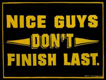 "Nice Guys Metal Sign by Marty Mummert ""Friends"""