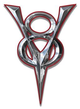 V-8 Plasma Cut Metal Sign by Larry Grossman