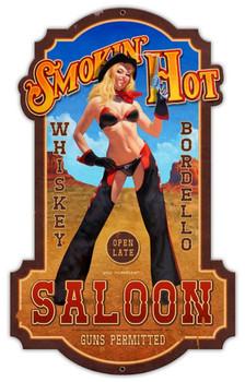 Smokin' Hot Saloon Laser Cut Sign