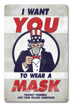 I Want You to Wear a Mask - Uncle Sam