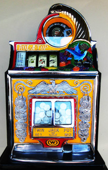 "Watling Rol-A-Top 25c ""Bird of Paradise"" Slot Machine Restored Circa 1935"