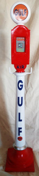 Gulf Air Meter on Stand Cast Aluminum Decorative