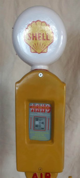 Shell Air Meter on Stand Cast Aluminum Decorative