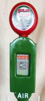 Sinclair Air Meter on Stand Cast Aluminum Decorative