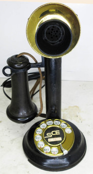 Automatic Electric Candlestick with Rotary Dial Circa 1915