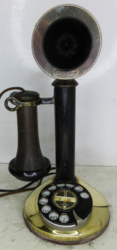 Western Electric Candlestick Rotary Dial Circa 1915 Operational Black Shaft