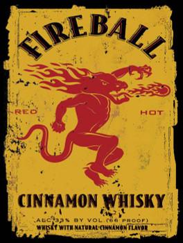 Fireball Cinnamon Whiskey Metal Sign