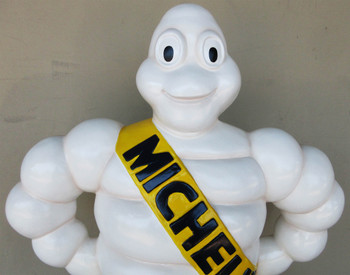 "Michelin Man Fiberglass Statue 37"" Tall"