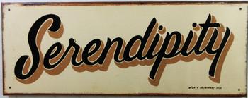 Serpendity Original Metal Sign Hand Painted Marty Mummert