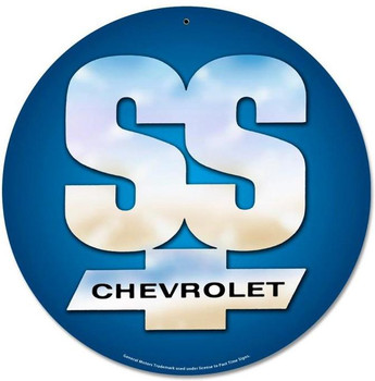 """Chevrolet SS 14"""" Round Metal Sign"""