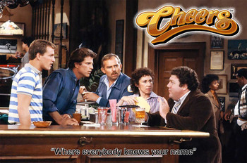"""Cheers Where Everybody Knows Your Name """"Cheers"""" TV Metal Sign"""