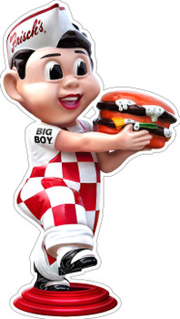Frisch's Big Boy Running with Hamburger Large Plasma Cut Metal Sign by Michael Fishel
