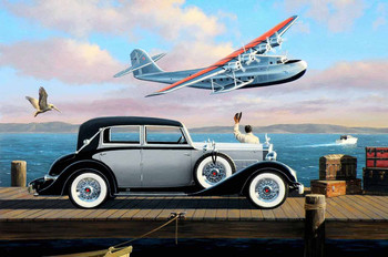 1934 Packard Glasier on the Dock by Stan Stokes