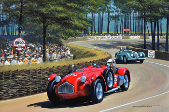 1952 Allard J2X  Motor Car Original Oil Painting