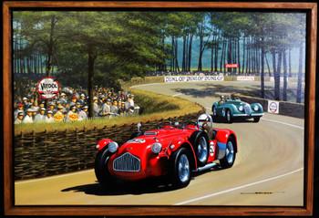1952 Allard J2X  Motor Car Original Oil Painting
