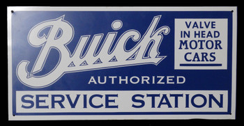 Buick Authorized Service Station Vinyl Aluminum Sign