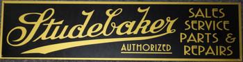 "Studebaker Dealership Advertising Sign 46"" by 12"""