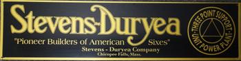 """Stevens-Duryea Car Advertisement 46"""" by 12"""""""