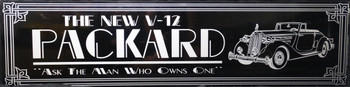 """V-12 Packard Car Advertisement 46"""" by 12"""""""