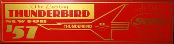 "57 Ford Thunderbird Car Advertisement 46"" by 12"""