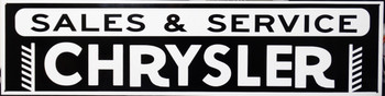 """Chrysler Sales & Service Advertisement 46"""" by 12"""""""