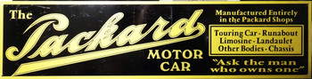"Packard Motor Car Advertisement 46"" by 12"""