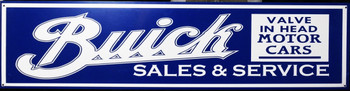 """Buick Sales & Service Motor Car Advertisement 46"""" by 12"""""""