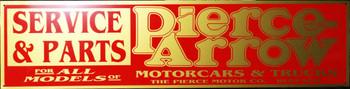 "Pierce Arrow Service & Parts Advertisement 46"" by 12"""