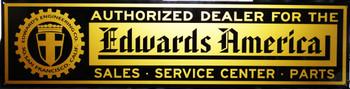 "Edwards America Motor Car Advertisement 46"" by 12"""