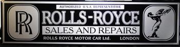 "Rolls Royce Motor Car Advertisement 46"" by 12"""