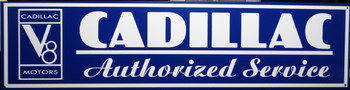 """Cadillac Authorized Service  Advertisement 46"""" by 12"""""""