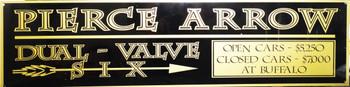 "Pierce Arrow Dual Valve Six Motor Car Advertisement 46"" by 12"""