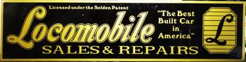 "Locomobile Motor Car Advertisement 46"" by 12"""