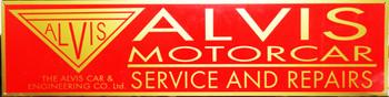 "Alvis Motor Car Advertisement 46"" by 12"""