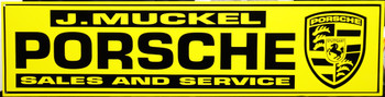 """Porche Sales & Service Advertisement 46"""" by 12"""""""